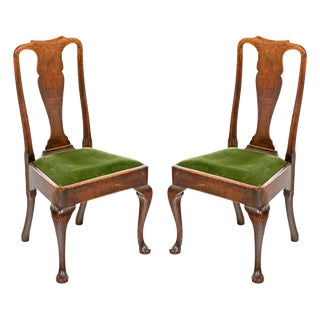 18th Century Queen Anne Oak Chairs - A Pair For Sale