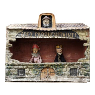 French Puppet Theater With Puppets For Sale