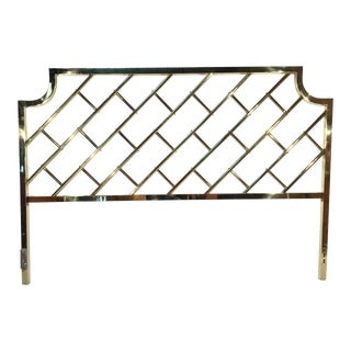 Brass Chippendale King Size Bed Headboard