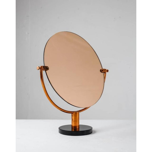 Copper Console or Table Mirror on Round Glass Foot, Germany, 1920s-1930s - Image 2 of 9
