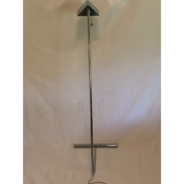 Mid-Century Chrome Floor Lamp from the 1970's. In mint condition and very unique design. No markings or known manufacture...