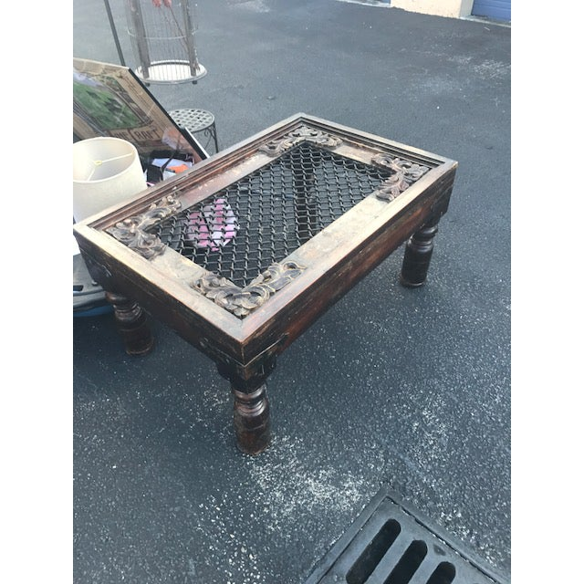 antique coffee table mughal inspired indian furniture chairish