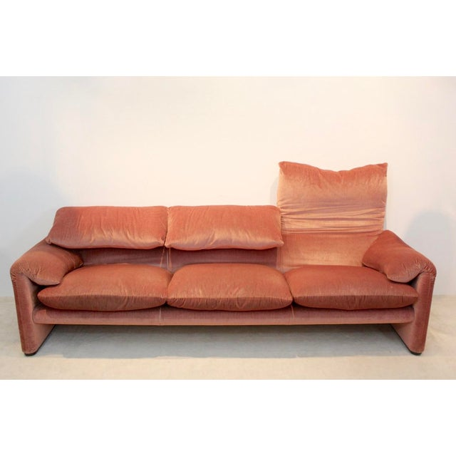 Three-Seat Maralunga Sofa by Vico Magistretti for Cassina, Italy 1973 For Sale - Image 6 of 8