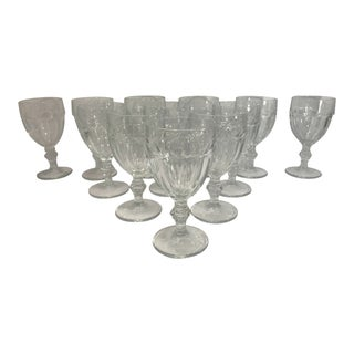 Vintage Libbey Glass Water Goblets - Set of 12 For Sale
