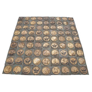 Handmade 17th Century Reproduction of Palazzo Ca D'Oro Ceiling Venice Italy Tile For Sale