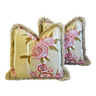 1d350e5c38a9e5 Embroidered Pink Rose Silk Feather/Down Pillows 21