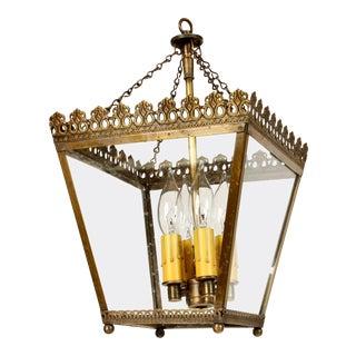 Custom European Brass Square Lantern For Sale