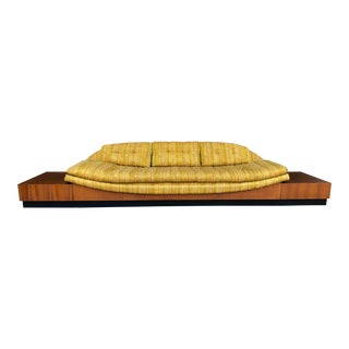 Adrian Pearsall Teak Floating Platform Gondola Sofa for Craft Associates