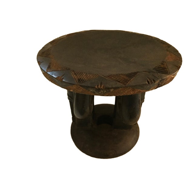"""Superb African Baga Low Stool Guinea 12"""" H For Sale In New York - Image 6 of 12"""