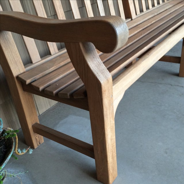 Gloster 8' Teak Bench For Sale In Sacramento - Image 6 of 8