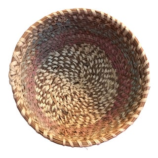 Native American Pine Needles Basket For Sale