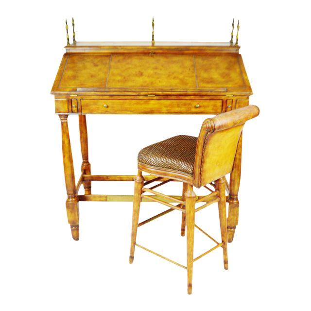 Vintage Thomasville Ernest Hemingway Desk & Chair Set For Sale
