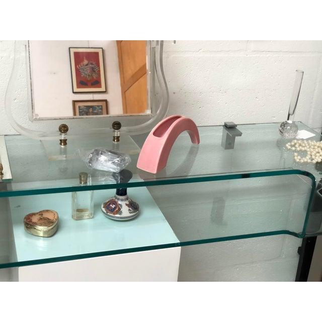 Calligaris Italian Glass Floating Vanity or Shelf For Sale - Image 10 of 12