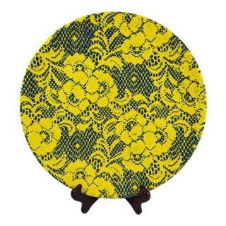 Contemporary Lace Imprint Serving Platter For Sale