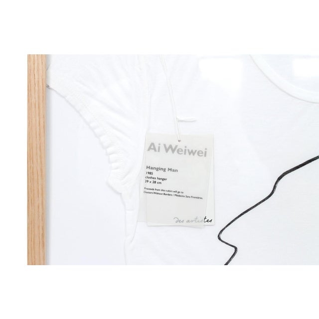 White Contemporary Abstract Limited Edition Framed T Shirts by Ai Weiwei - a Pair For Sale - Image 8 of 13
