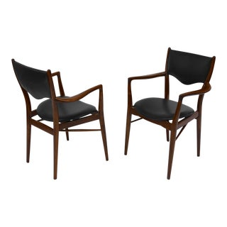 Pair of Armchairs by Finn Juhl, Bovirke Denmark, 1946 For Sale