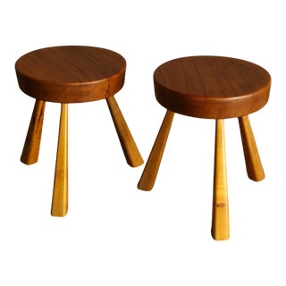 1960s Charlotte Perriand Stools for Les Arcs - a Pair For Sale