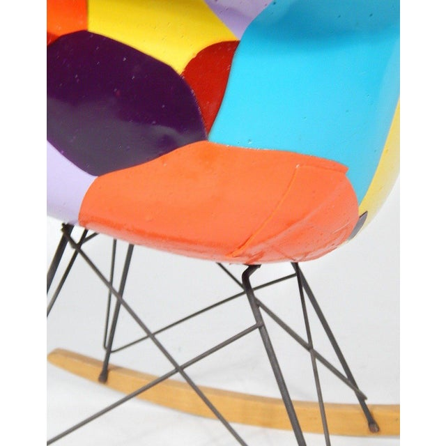 Early Eames 1950s Rocker Updated by Artist Jim Oliveira For Sale In Boston - Image 6 of 8