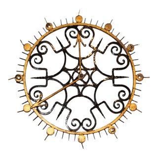 Vintage Gilt Iron Clock Face For Sale