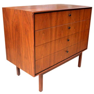 1950s Milo Baughman for Arch Gordon Walnut Four-Drawer Dresser