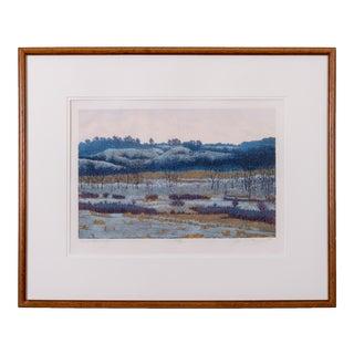 Gordon Mortensen 'A Winter Afternoon' Woodcut For Sale