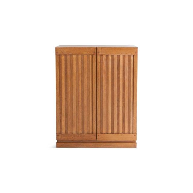 Minimalist Natural Oak Bar Cabinet For Sale - Image 12 of 12