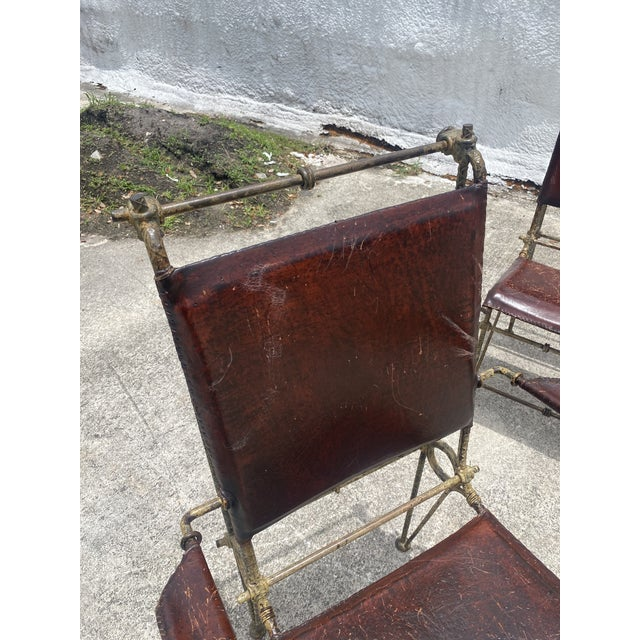 Vintage Brutalist Sculpted Rebar Dining Chairs in the Manner of Ilana Goor - Set of 6 For Sale - Image 10 of 13
