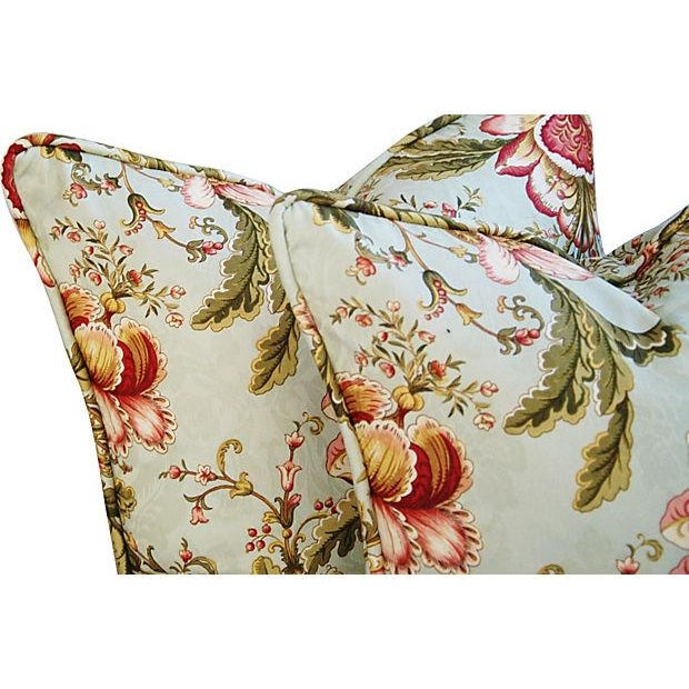 Custom Swavelle Mill Creek Floral Pillows - A Pair - Image 3 of 7