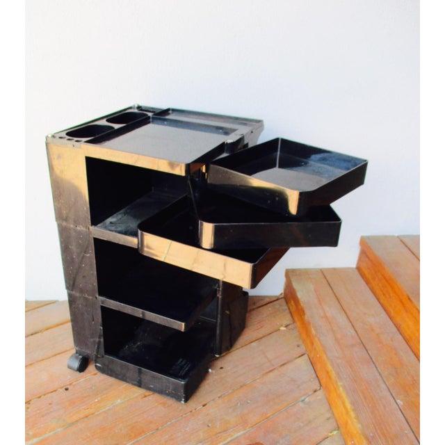 Taboret Mid-Century Modern Black Cart - Image 3 of 10