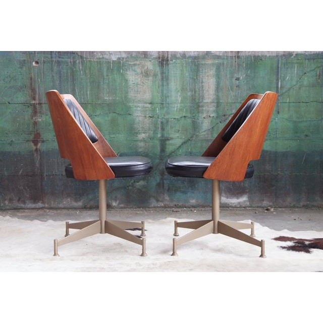 "1960s Mid Century ""Orange Slice"" Dining Set - 5 Pieces For Sale - Image 4 of 11"