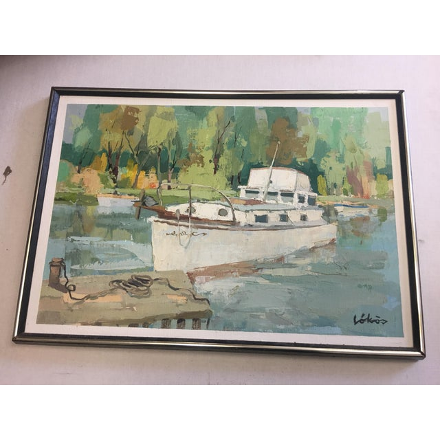 Stefan Lokos Boat At the Marina Painting - Image 3 of 11