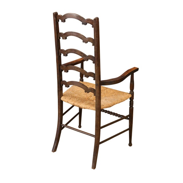 Edwardian Unique Ladder-Back Chairs For Sale - Image 3 of 7