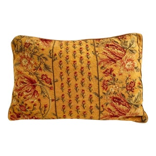 Vintage Mid-Century Needlepoint Pillow Cover For Sale