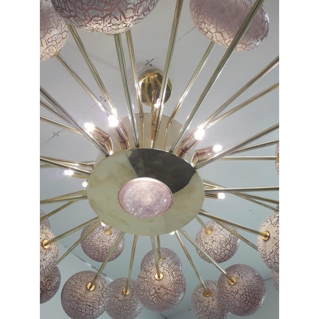 Crackled Orbs Chandelier by Fabio Ltd For Sale - Image 9 of 12