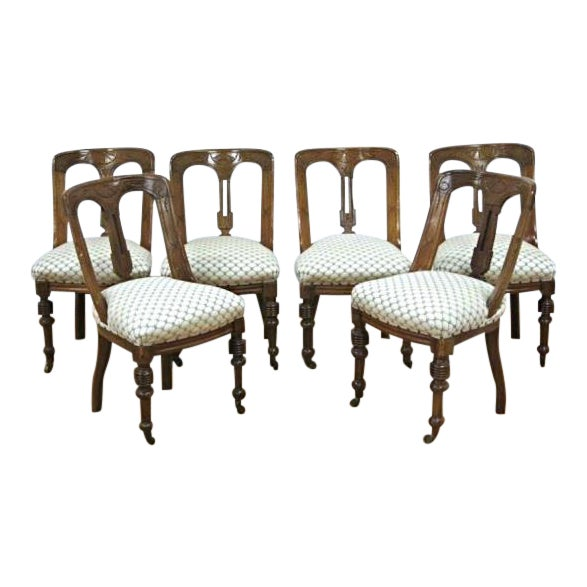 Regency Style Mahogany Dining Chairs - Set of 6 For Sale