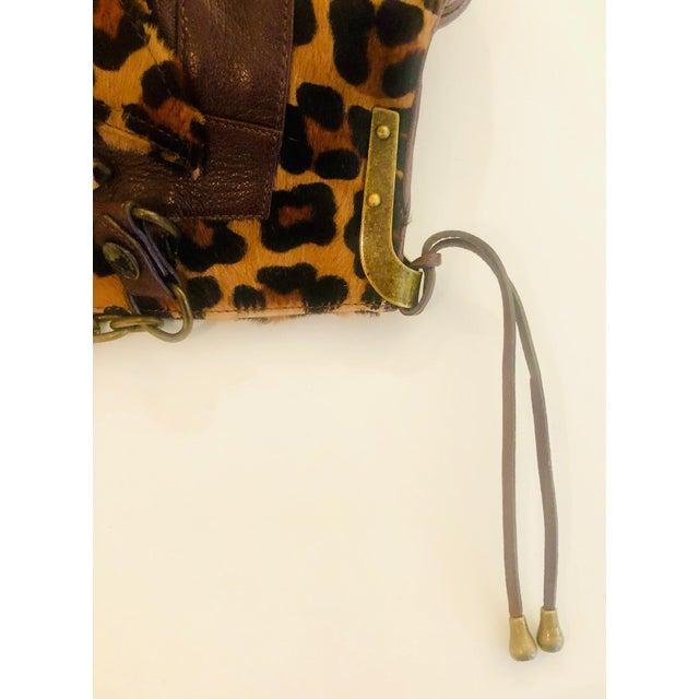 2010s Dolce & Gabbana D & G Leopard Fur Satchel Purse For Sale - Image 5 of 10