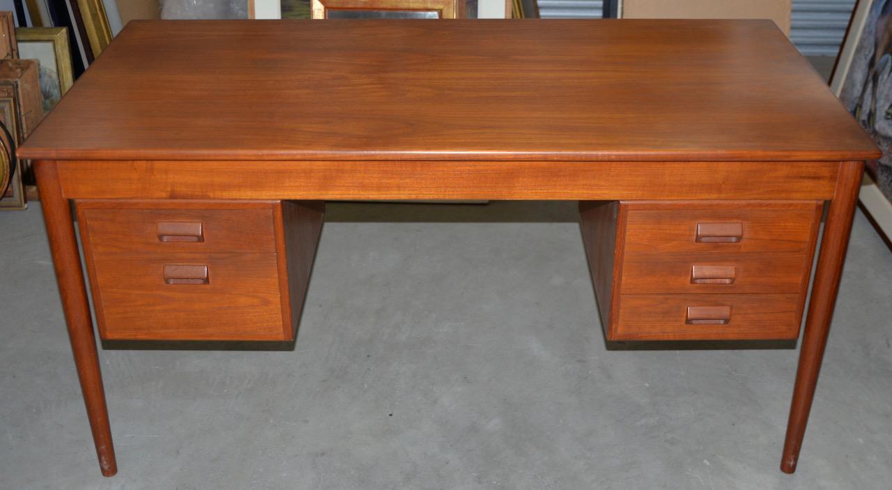 Teak Vintage Danish Modern Teak Desk By Borge Mogensen For Søborg Møbler  C.1960s For