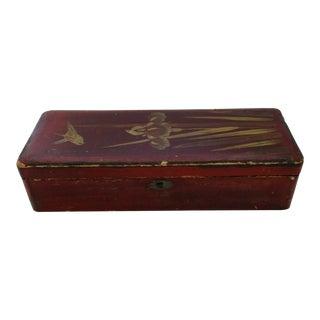 Antique Asian Glove Box For Sale