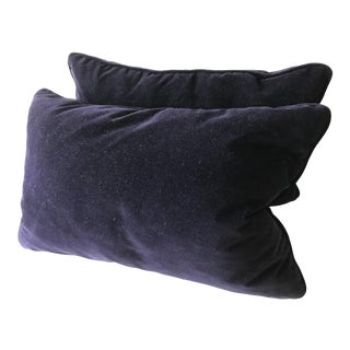 Robert Allen Purple Velvet Pillow Covers - A Pair