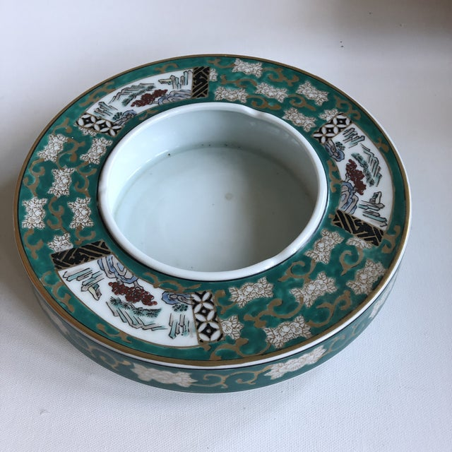 Green Vintage Japan Gold Imari Hand Painted Ashtray For Sale - Image 8 of 8
