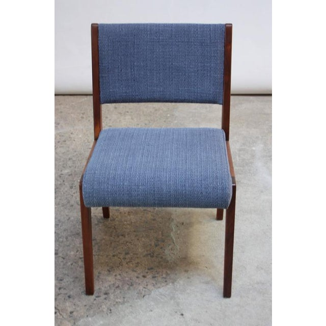 Set of Six Walnut Dining Chairs by Jens Risom - Image 8 of 11