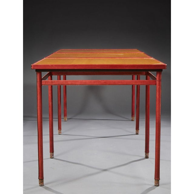 Jacques Adnet (1900-1984) - Pair of Tables - Circa 1950. For Sale - Image 6 of 8