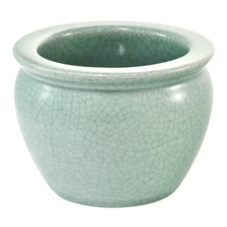 Celadon Green Crackle Glaze Pot