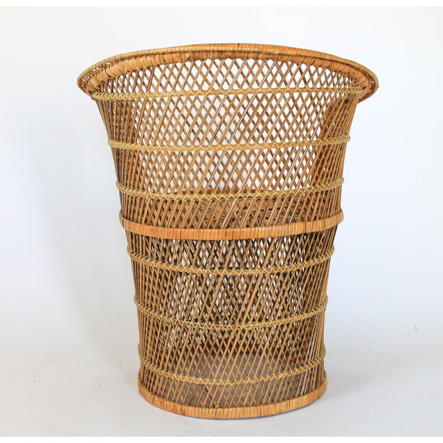 Mid 20th Century Boho Style Wicker Chair and Table For Sale - Image 5 of 10