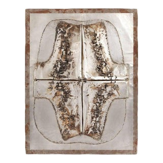Cheung Yee 'Box 3' Textured Metal Wall Hanging For Sale