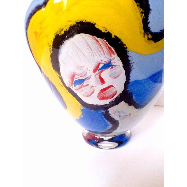 Handblown Faces Vase by Thor Bueno - Image 4 of 6