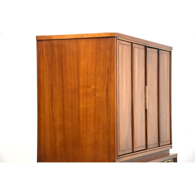 Kent Coffey Kent Coffey Impact Tall Walnut Mid Century Dresser For Sale - Image 4 of 11