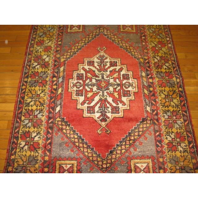 Vintage Handmade Oriental Rug - 3′6″ × 5′7″ For Sale - Image 4 of 7