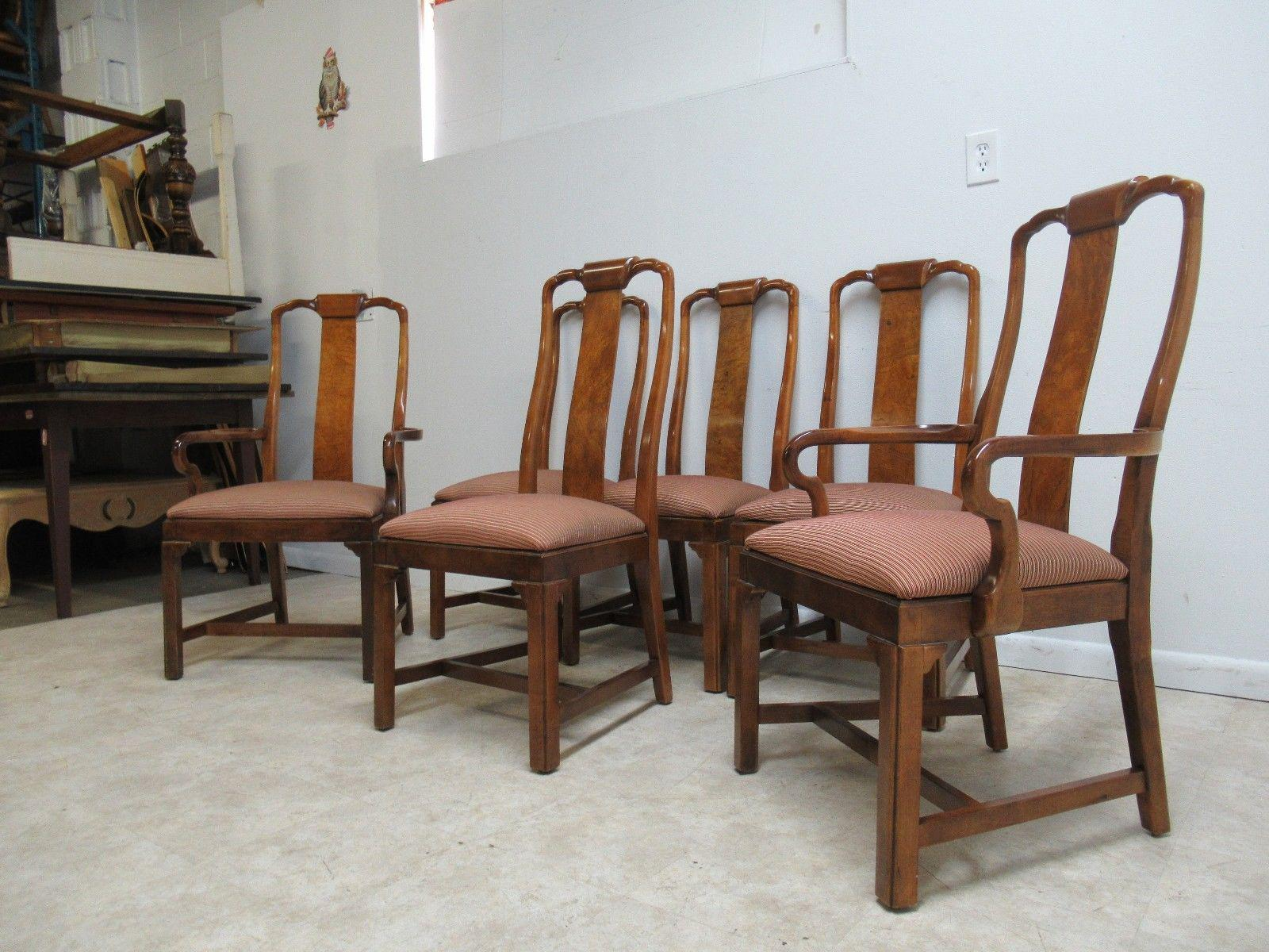 Vintage Drexel Asian Chinoiserie Dining Chairs   Set Of 6   Image 3 Of 11