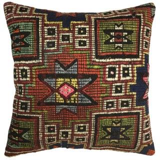 "Rug & Relic Star Design Kilim Pillow | 20"" For Sale"